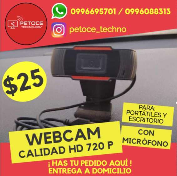 Cámara web hd 720 p | +micrófono | para laptop y pc de escritorio