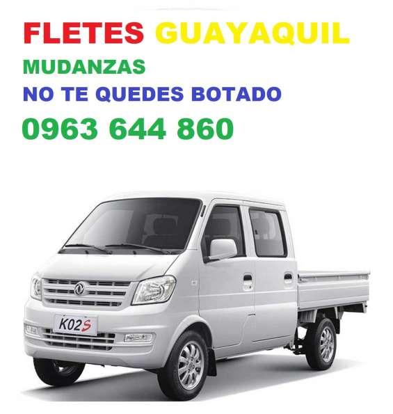 Camioneta flete guayaquil pequeñas mudanzas 0963644860