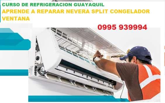 Curso de refrigeracion guayaquil aprende reparacion de nevera congelador split ventana 099