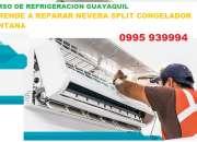 CURSO DE REFRIGERACION GUAYAQUIL APRENDE REPARACION DE NEVERA SPLIT CONGELADOR VENTANA  09